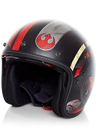 Casco Abierto Moto Hjc Star Wars Fg-70 Dameron Rojo (M , Rojo)