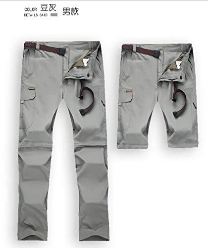 Herren Puick Trockenhose Männer Hellgrau Quick Dry Pants Coole wasserdichte Hosen UV-Schutz Convertible Pants für Outdoor-Sport Wanderhose (Größe : L) Cool Convertible Pant