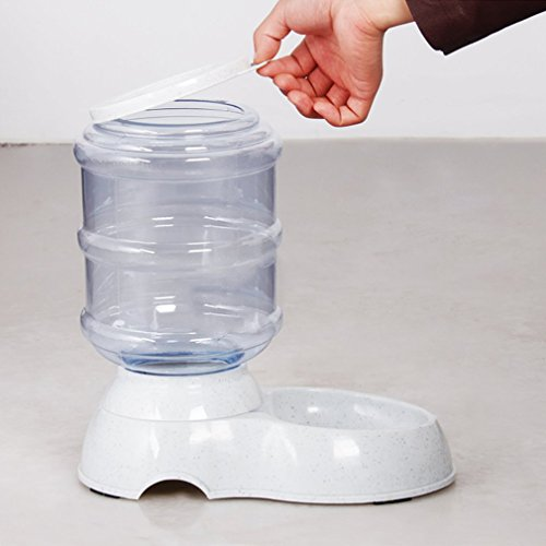 Suministros para mascotas Perro Dispensador automático Alimentador de agua...