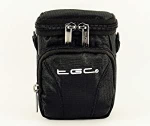 The TGC ® Jet Black Deluxe Compact Shoulder Carry Case Bag for the Samsung QF20 Camcorder