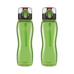 Milton Rock Unbreakable Tritan Water Bottle Set, 750ml, Set of 2, Green