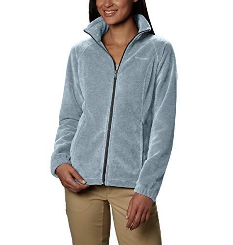 Columbia Damen Benton Springs Petite Full Zip Fleecejacke, Cirrus Grey Heather, Zierlich X-Small (Petite Womens Heather)