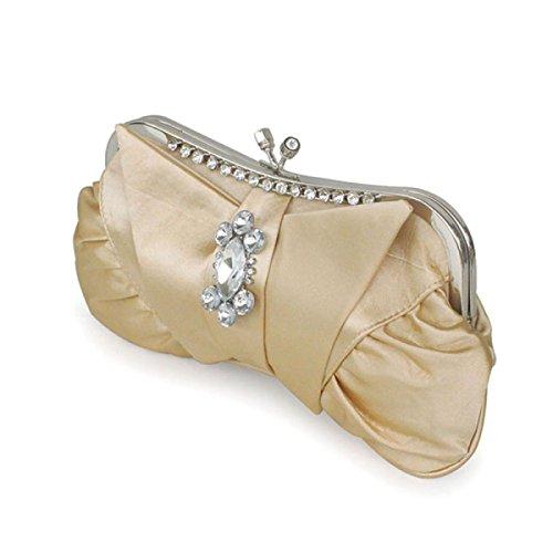 Frizione Di Sera Dell'annata Delle Donne Frizione PursesHandbags Per Matrimonio Yellow