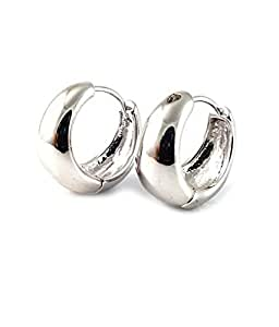 Ammvi Creations Bollywood Style Elegant Polished Surgical Steel Hoop Earrings for Men