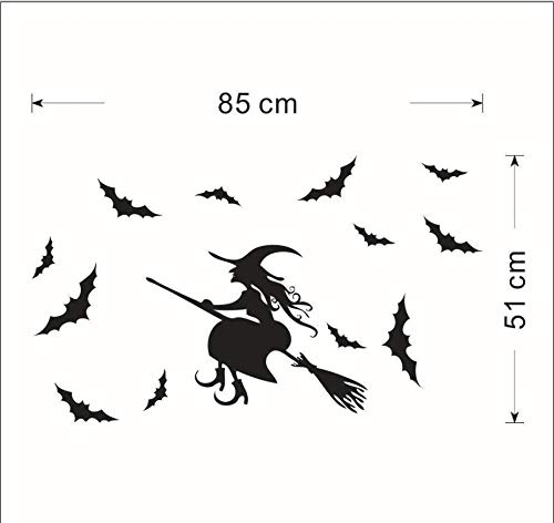 er Wandaufkleber Kinderzimmer Wandaufkleber geschnitzt dekorative Malerei Glas Kinderzimmer Hintergrund Halloween entfernbare Tapete ()
