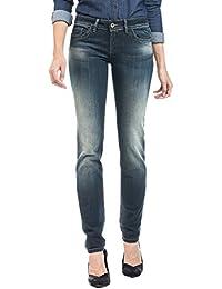 Salsa - Jeans Push Up Wonder jambe slim avec détail similicuir - Femme