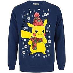 Vanilla Underground Pokemon Pikachu Men's Christmas Sweater (L)