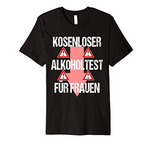 Alkoholtest Lustig Witziges Karneval Shirt Faschings Kostüm