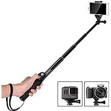 Palo Selfie Bluetooth Luxebell Monopod Ajustable para Smartphone, Cámara GoPro Hero 1 2 3 3+ 4 y más Action Camera - Negro