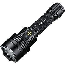 Supfire Tactica Linterna Super Brillante 700lm LED Impermeable Antorcha con 18650 Bateria Incluido,Recargable con