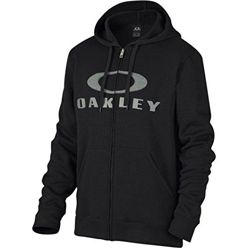 Oakley Herren Kapuzenpullover Ellipse Nest FZ Fleece, 01K-Jet Black, M Full Zip Screen-print Sweatshirt