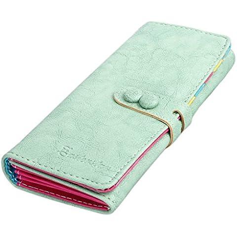 Ularma 2016 Moda Cartera Billetera móvil bolsa pequeño fresco (verde)