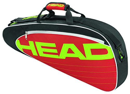 Bag Head Pro Elite Tennis (HEAD Schlägertasche Elite Pro, Schwarz, 75 x 31.5 x 35 cm, 55 Liter, 283454-bkrd)