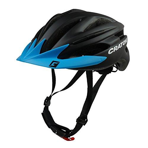 Fahrradhelm Cratoni Pacer, black matt - Visier blau, Gr. L-XL (58-62 cm) (Rad-regen-hose)