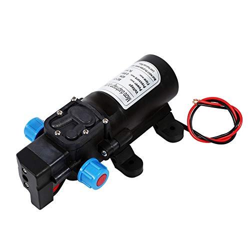 RV Wasserpumpe SENRISE 60 W 12 V Hochdruckmembran selbstsaugende Pumpe Druckwasserpumpe Flüssigkeitspumpe Automatischer Schalter für Wohnmobil/Boot/Wohnmobil/Garten (5 l/min) -