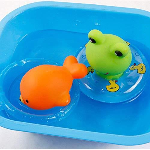 Hemore Baby-Badespielzeug, Gummi-Schwimmer, zum Drücken, Waschen und Schwimmen, Tauchen, Spielzeug, Wasserwanne Spielzeug, 5 Stück spritzt, Badespielzeug für Baby, Gesundheit und Babypflege