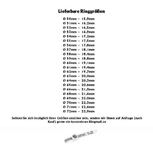 frencheis Schwarze Eheringe Partnerringe Trauringe Titanringe mit Zirkonia und Ihrer persönlichen Lasergravur H116