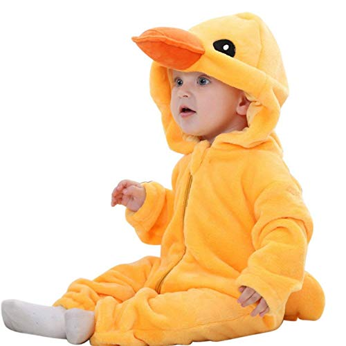 (PICCOLI MONELLI Pyjamas pigiamone Ente Entlein Kind Kind ohne Beine in Stapel geeignet Even as Custom o Tutone hot di Karneval TG 90 cm)