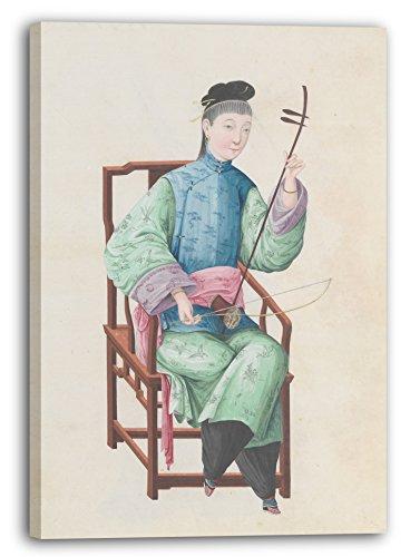 Printed Paintings Leinwand (70x100cm): Ende des 18. Jahrhunderts - Aquarell Eines Gaohu (?) Spiel