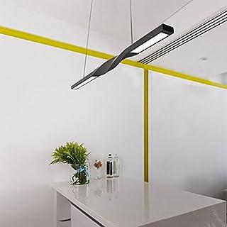 KJLARS Led Pendelleuchte Modern Hängeleuchte Schwarz Metall Hängelampe Leuchtmittel Pendellampe geeignet für Wohzimmer Esstisch Schlafzimmer Kronleuchter usw (120cm)