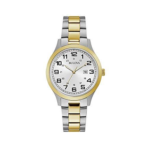 rmbanduhr 34mm Armband Zweifärbiger Edelstahl Quarz 98M128 ()