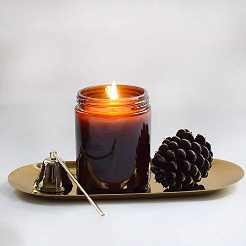 Dcnvvv Candle Sticker Candle Aromatherapie Pure Natural eine Aromatherapie im Palmglas, die die Nerven an der frischen Luft beruhigt@Weißer Tee mit Ingwer -