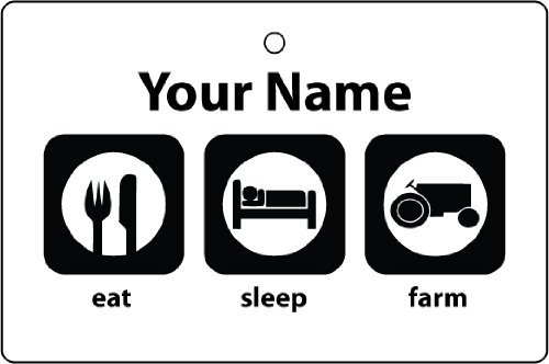 personalised-eat-sleep-farm-car-air-freshener