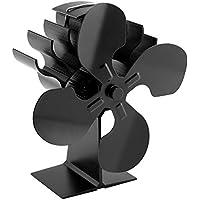 VIOY Ventilador de Energía Térmica Estufa Eléctrica de Calor/Quemador de Leña/Chimenea,como se Muestra,Una Talla