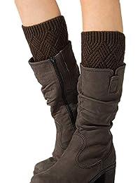 Vellette Scaldamuscoli Donna caldo Maglia Gamba Calze Stivali Cover di  Invernouncinetto Leg scalda scarponi Inverno Calzini b95728eb227