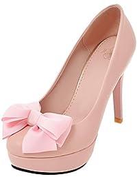 Chaussures à talon aiguille à bout pointu à boucle Gennia roses femme