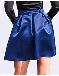 a6f1450fa DQHXGSKS Para Mujer Tutu Mini Falda Nuevo Harajuku Falda Midi de Cintura  Alta Puff Plisado para