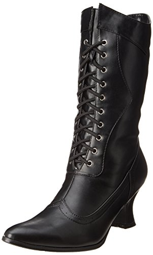 (Ellie Shoes E253-Amelia-7 7 Mid Calf Adult Boot - Schwarz)