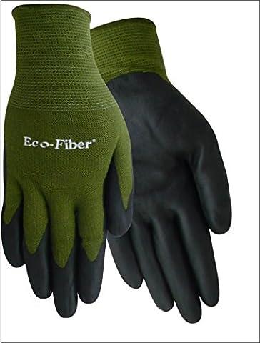 Red Steer 1153-L Eco-Fiber Gant en bambou en tricot et en nitrile, vert olive / Noir [Le prix est par PAIRE] (Large)