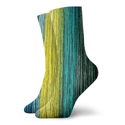 shizh Multi farbige Schnur-Gewebe-Beschaffenheit Mode Kleid Socken Casual Socken Reise Sport Socken Yoga Walking Radfahren Laufen Fußball,30cm -