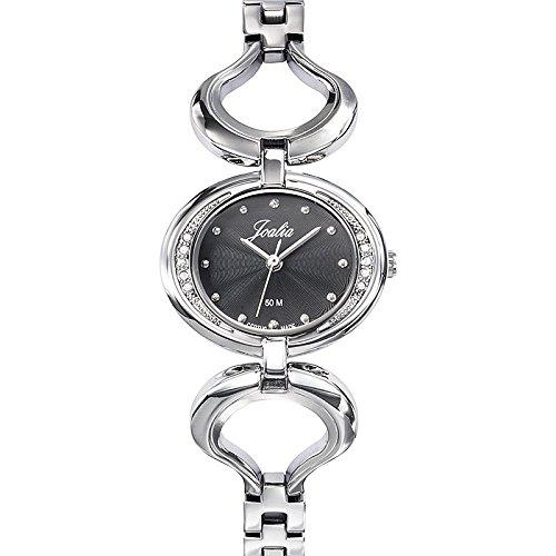 Joalia-633336-Orologio da donna con cinturino in metallo con quadrante nero argento