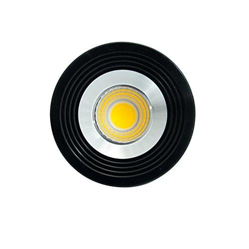 Klein Einbaustrahler LED Spot Einbauleuchte Deckenleuchte Schwarz Silber Rahmen 3 Watt inkl. Trafo Kaltweiß