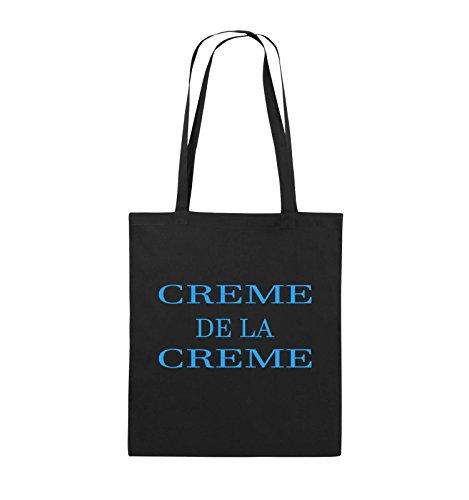 Buste Comedy - Creme De La Creme - Borsa In Juta - Manico Lungo - 38x42cm - Colore: Nero / Rosa Nero / Blu
