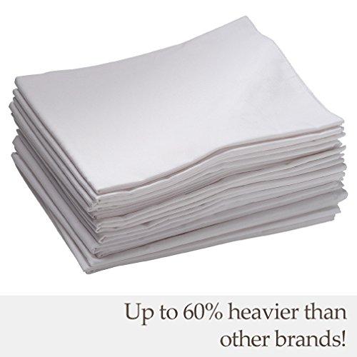 ECR4Kids Cot Sheets (12 Pack), White