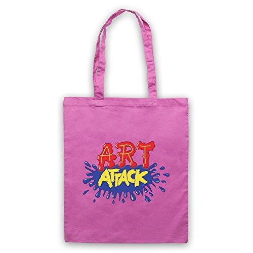 Inspiriert durch Art Attack Logo Inoffiziell Umhangetaschen Rosa