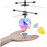 JAMSWALL RC Flying Ball Crystal Flashing LED Light Flying Ball RC Toy RC Infrared Induction Helicopter for Kids, Teenagers Colorful Flyings for Kid's Toy