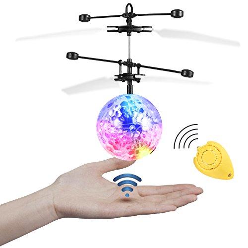 Etpark Boule à facettes Volante avec LED et Système d'Induction par Infrarouge Transparent sans Télécommande