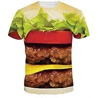 Hombres Hamburguesa Camiseta 3D Summer Big Mac Burger Impreso 3D Algodón de manga corta O-cuello Top hip-hop Camiseta