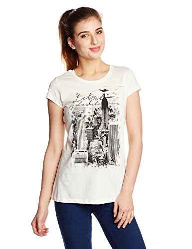 People Women's Printed T-Shirt (P20401105151015_Off-White_Large)  available at amazon for Rs.149