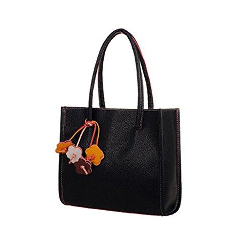 Mode Mädchen Handtaschen Leder Schultertasche Candy Farbe Blumen Totes Zolimx