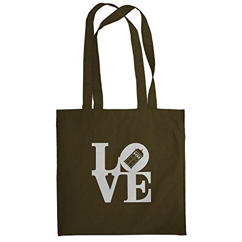 Texlab–Time Love–sacchetto di stoffa Marrone