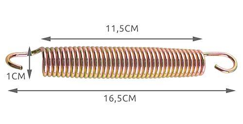 MALATEC Trampolin Federn 145mm; 135mm;165mm Set 10 Stück Stark Langlebig Edelstahl Leichtgewicht 2239, Größe:165 mm