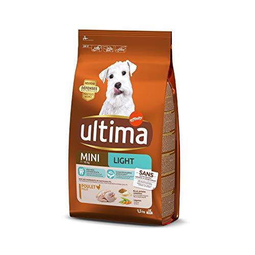 Ultima Croquettes pour Chien Adulte Spécial Mini Light 1,5 kg