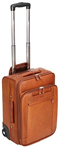Cortez - Business-Trolley mit Laptopfach - Leder - Handgepäcksgröße - Cognac