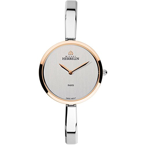 MICHEL HERBELIN WOMEN'S SCANDINAVE 30.5MM STEEL CASE QUARTZ WATCH 17411/BTR02