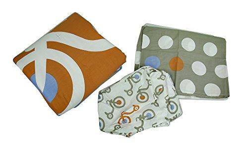 Dreirad und Polka Dots 3Stück Bettlaken für Babybett Rock Tröster Bettwäsche-Set (Kleinkind Bettwäsche Dots)
